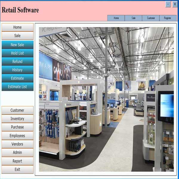 Pos software web site design for Retail store layout software