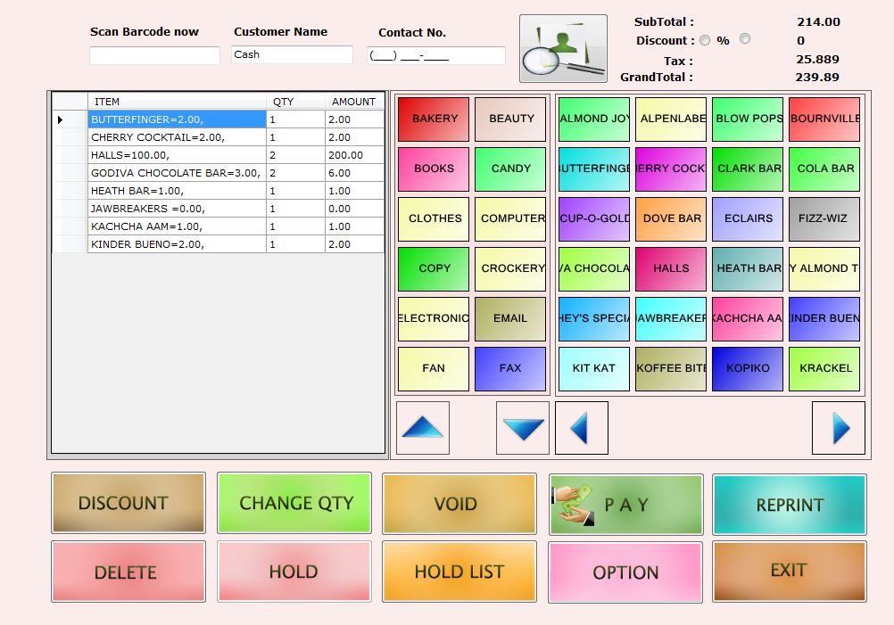 Point Of Sale System For Retail Restaurant And Salon